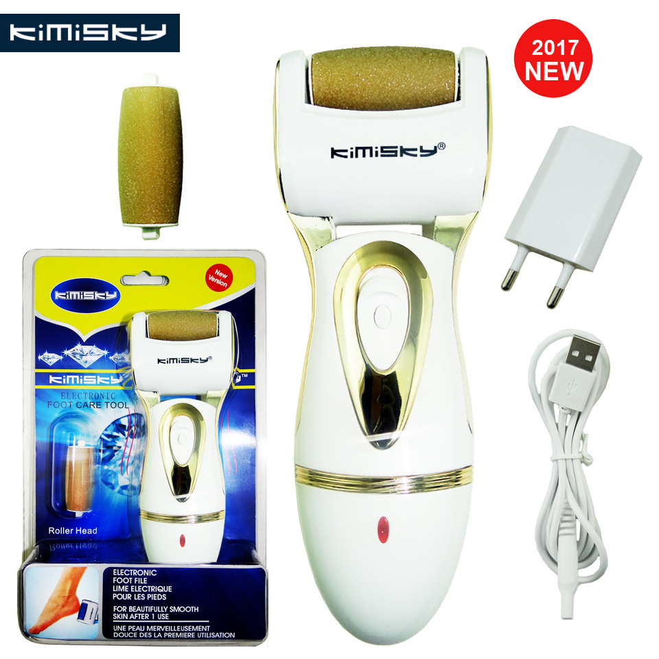 KIMISKY Luxury RECHARGEABLE Foot Care Tool Pedicure Personal Care Foot File Electric Pedicure Tools 2Ps Sholls Rollers Heads electric antistress therapy rollers shiatsu kneading foot legs arms massager vibrator foot massage machine foot care device hot