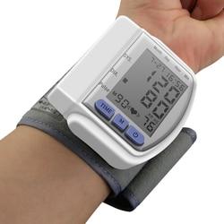 LCD Digital Display Automatic Home Wrist Blood Pressure Screen Pulse Sphygmomanometer and Tonometer Monitor Heart Beat Meter