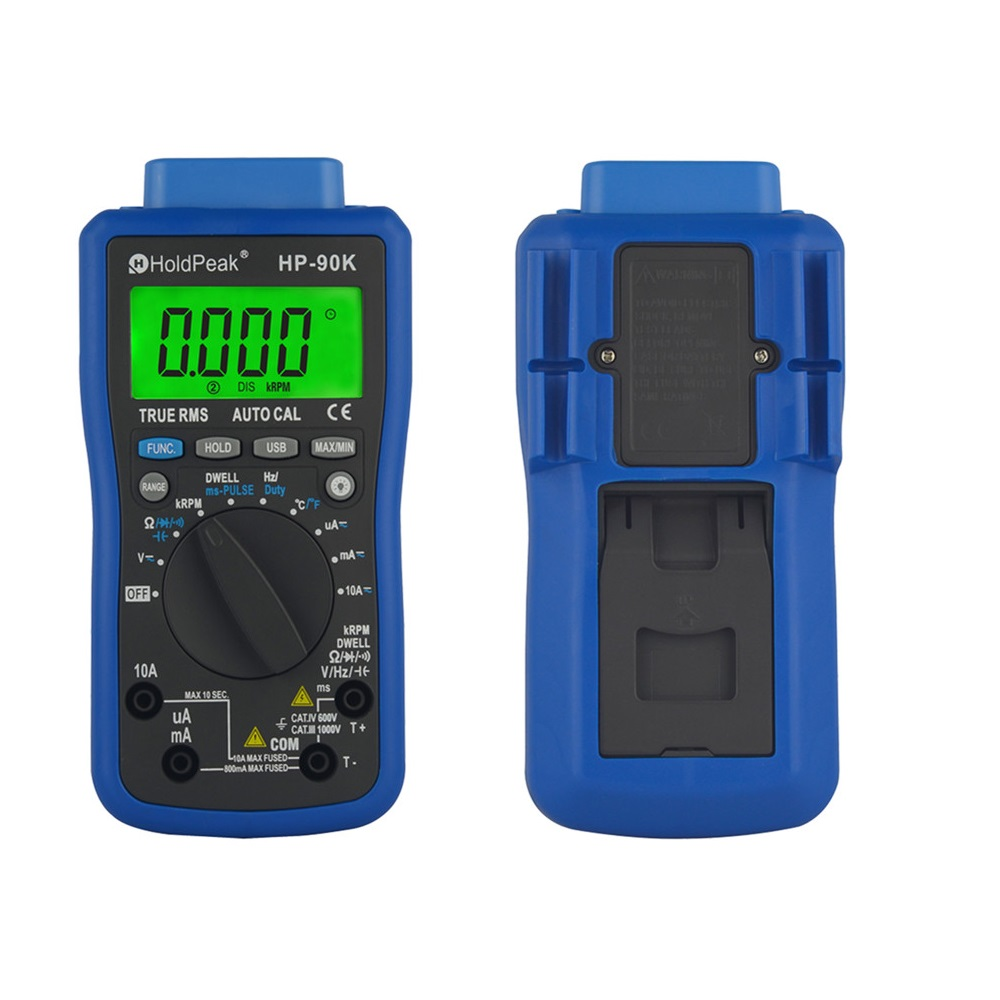 HoldPeak HP-90k Engine Analyzer Tester  Auto Range Car Diagnostic Tool with Data Output by USB Multimeter Multimetro holdpeak hp 90epc multimetro digital usb multimeter dmm auto range tester lcd ammeter capacitance meter pc data transmission