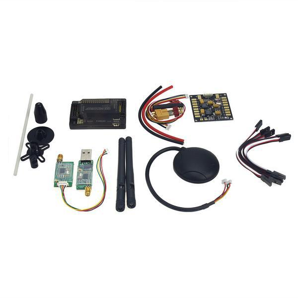 APM2.8 Flight Control with Compass,6M GPS,Power Distribution Board, GPS Folding Antenna,3DR Radio Telemetry Kit for DIY F15441-B gy neo6mv2 neo 6m gps module neo6mv2 with flight control eeprom mwc apm2 5 large antenna for arduino