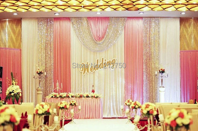 Buy new arrival elegant wedding backdrop for Paillette decoration