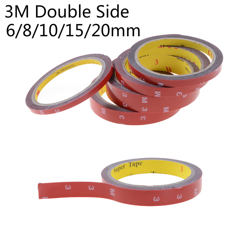 3M Double Side Tape Sticky Office Decoration Supplies Adhesive Car Screen Repair Accessories 6/8/10/15/20mm3M Double Side Tape Sticky Office Decoration Supplies Adhesive Car Screen Repair Accessories 6/8/10/15/20mm