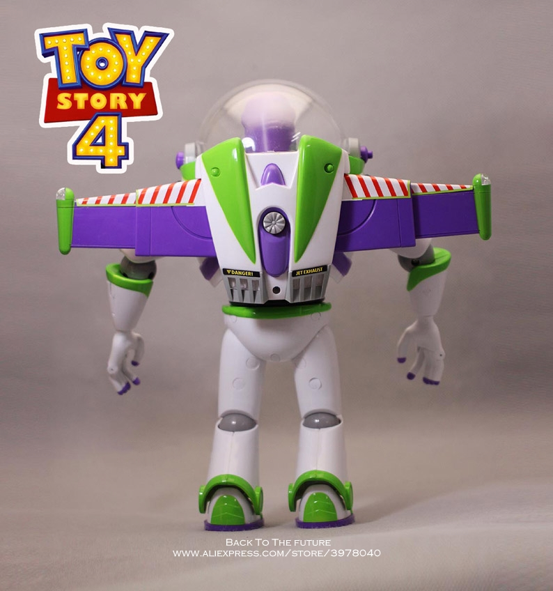 Image 4 - Disney Toy Story 4 Buzz Lightyear Talking figure 30cm PVC Action Figures mini Dolls Kids Toy model for Children giftAction & Toy Figures   -