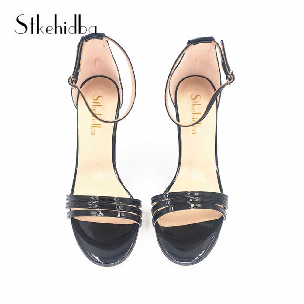 2b7a59a7f2379 ... Stkehidba Top Quality Women s Sandals Genuine Leather Women s Shoes  Butterfly-knot High Heels Pumps Summer ...