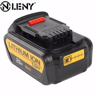 Onleny For DeWalt 20V 5000mAh Power Tools Battery Replacement For Drill DCB200 DCB181 DCB182 DCB204 Rechargeable