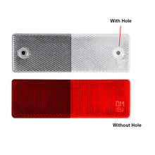 цена на 10ps Red/White Reflective Strips Car Sticker Mark reflective strips Car Warning Stickers