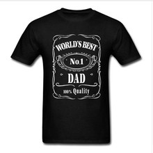 Worlds Best Dad Papa Birthday Gift Daddy Present Pappa Mens T Shirt Fathers Day T-Shirt Funny 100% Cotton Tee Plus Size Shirts