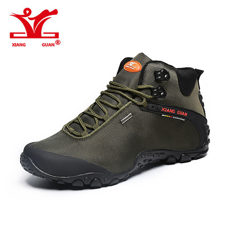 XIANGGUAN 2017 NEW Suede Mountain male Climbing Camping Shoes Hiking Boots Outdoor Sneakers Trekking Walking Waterproof Shoes humtto new hiking shoes men outdoor mountain climbing trekking shoes fur strong grip rubber sole male sneakers plus size