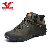 XIANGGUAN 2017 NOUVELLE Daim mâle De Montagne Escalade Camping Chaussures de Randonnée Bottes En Plein Air Sneakers Trekking Chaussures de Marche Imperméables