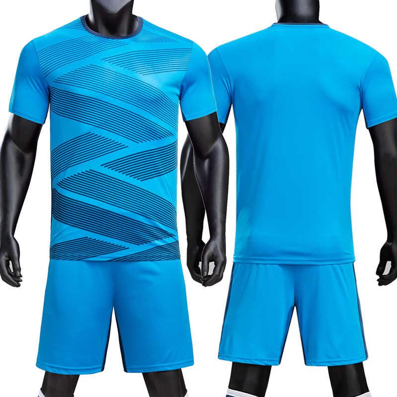 Детская игровая футболка без надписей для взрослых, комплект для съемки футбола, рубашка для футбола, шорты, костюм на заказ, 18/19 футбольная форменная одежда
