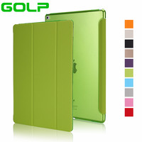 Case For IPad Pro 12 9 Inch GOLP Hot Sale PU Leather Tri Fold Stand Smart