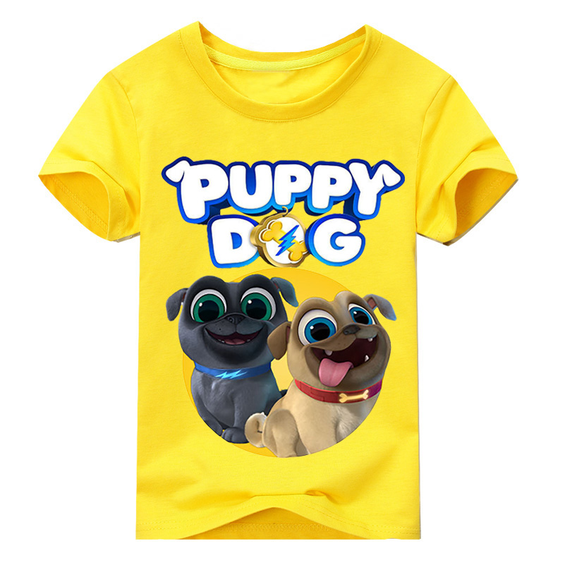 Children Summer Short Sleeve Top Clothes Boy 3D Puppy Dog Pals Printed Tee Tops Clothing For Girls T-shirt Kids T Shirts DX044 children summer hot shooting game print t shirt clothing for boy t shirts girls short tee tops clothes kids tshirt costume dx063