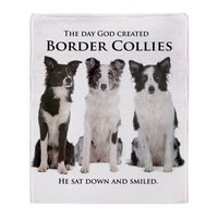Personalized Creation Of Border Collies Soft Fleece Throw Blanket Cover Throw Over Sofa Bed Blanket Home