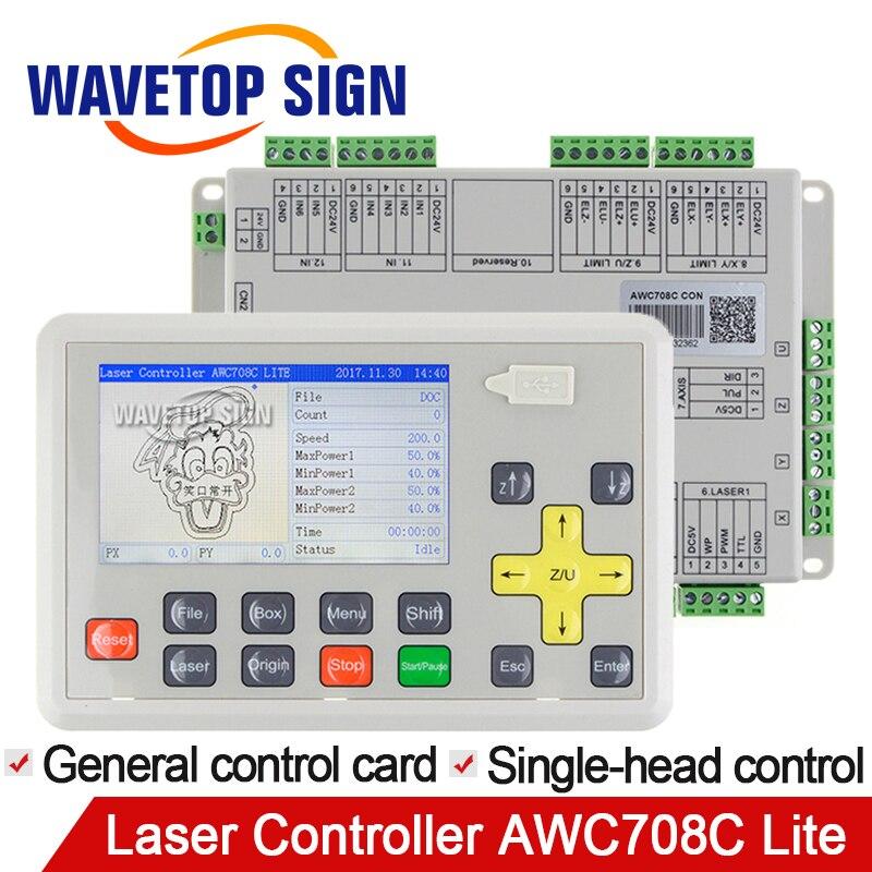 WaveTopSign Trocen de Gravure Anywells AWC708C Lite C02 Laser Contrôleur Système Pour Laser de Gravure et De Découpe Machine Remplacer AWC608C