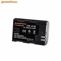 Powtree для Canon 1x7,2 В 2800 мАч LP-E6 Перезаряжаемые Камера Батарея Замена LP E6 LPE6 5D 6D 7D 60D 60Da 70D 80D DSLR