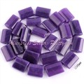 FREE SHIPPING 10X14MM FLAT RECTANGLE PURPLE JADE SPACER LOOSE BEADS STONES FOR DIY NECKLACE BRACELAT JEWELRY MAKING STRAND 15""