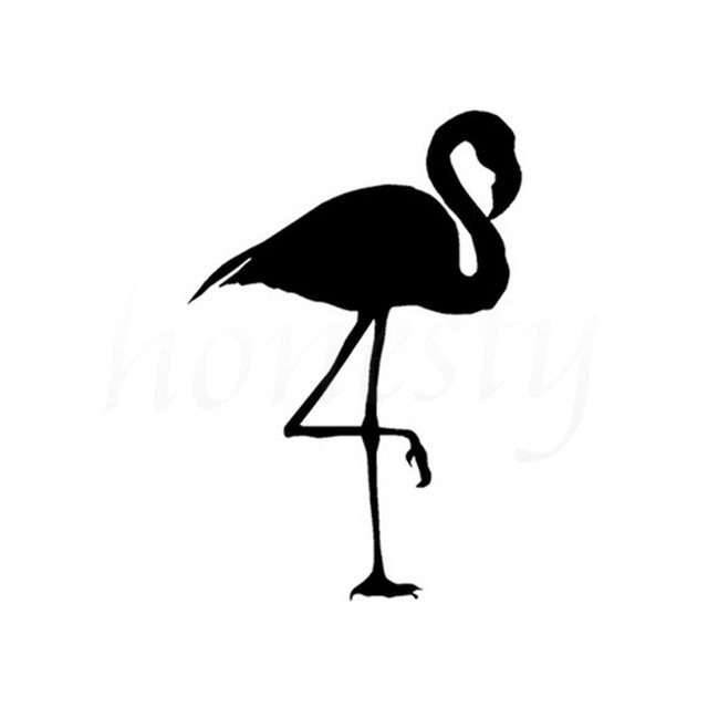 Flamingo Bird Car Stickers Wall Home Glass Window Laptop Auto - Window decals for bird protection