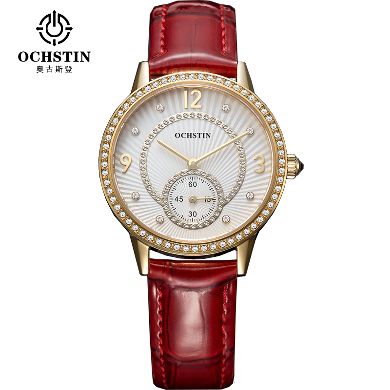 OCHSTIN Brand Ladies Fashion Simple Quartz Watch Women Casual Dress Women's Wristwatches Gifts Reloje Mujer 2017 Montre Femme free shipping kezzi women s ladies watch k840 quartz analog ceramic dress wristwatches gifts bracelet casual waterproof relogio