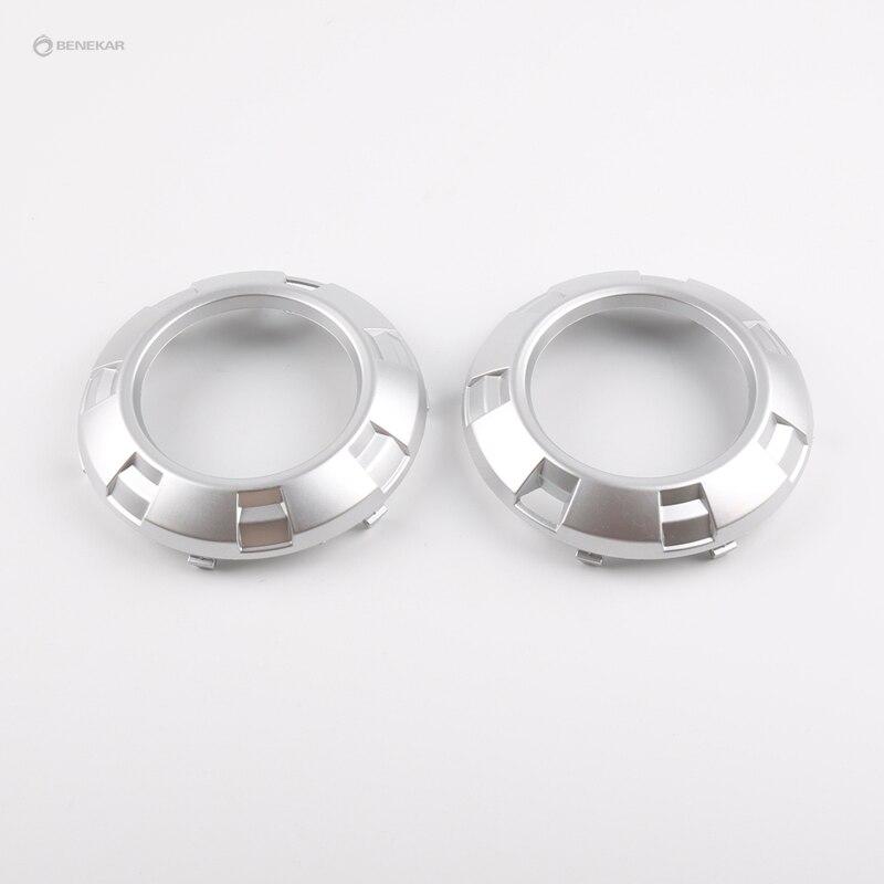 Front Fog Light Lamp Cover Silver for Mitsubishi Pajero Montero L200 Triton