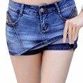 Moda verano Mujeres Shorts Faldas Mujer Cortocircuitos Ocasionales Mediados de Pantalones Cortos de Cintura alta