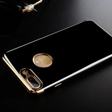 Бренд eletraplate бампер оснащен ca s e для iPhone 6 6 S 7 iPhone 7 plu S задняя крышка fa S Хион тонкий ТПУ ca s e s основа роскошный черный