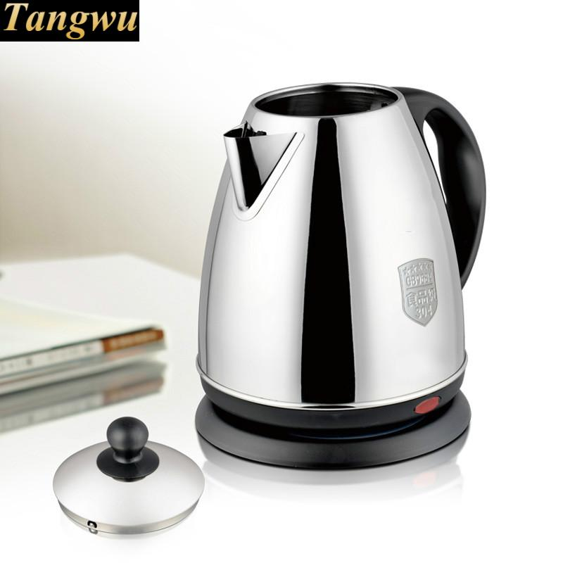 NEW High quality food grade 304 stainless steel electric kettle fired automatically Safety Auto-Off Function mini stainless steel electric kettle automatically cut safety auto off function