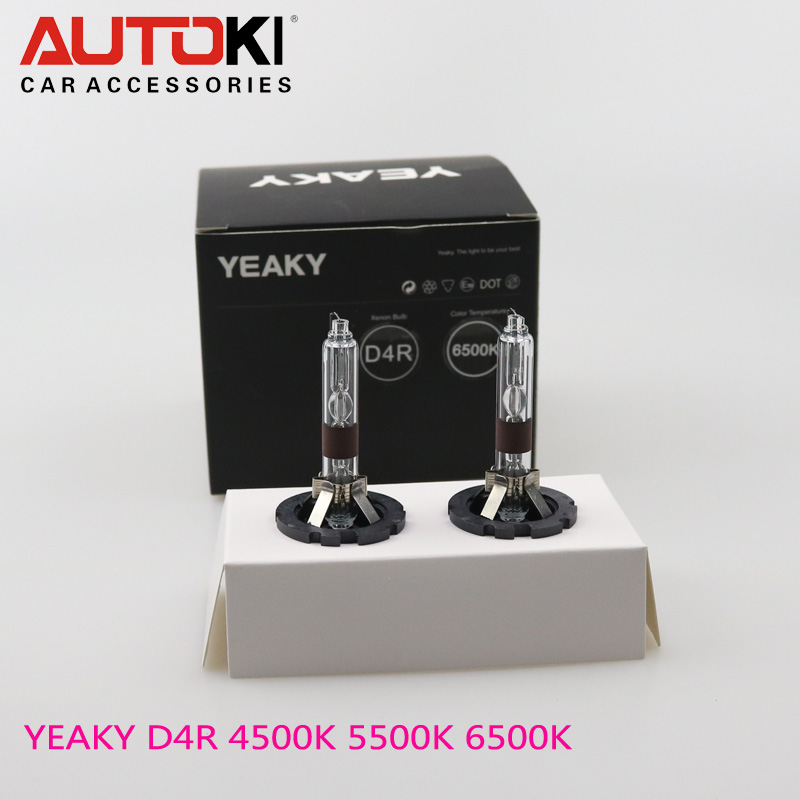 Free Shipping Autoki Yeaky Series 35W Super BrightHID Xenon Bulbs D4R HID lamp for replacement halogen bulb 4500K 5500K 6500K