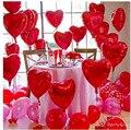 10 ШТ. 18 Дюймов Фольги Красное Сердце Любовь Шап Воздушный Шар День Рождения Свадьба Воздушные шары Гелия Украшения Большегрузных Брак Баллон