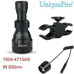 UniqueFire Zoomable Troch, 4715AS IR850nm LED lampe infrarouge lampe de poche à Vision nocturne (la lumière infrarouge est Invisible pour les yeux humains)