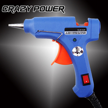 Crazy Power 20W  EU Plug Hot Melt Glue Gun Industrial Mini Guns Thermo Electric Gluegun Heat Temperature Tool Graft Repair DIY