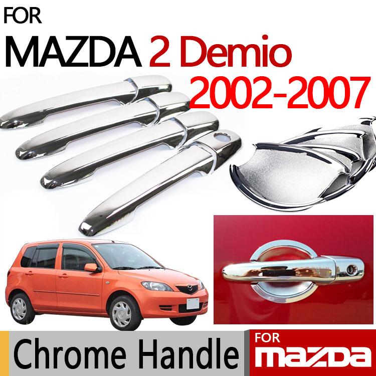 For mazda 2 demio accessories chrome door handle luxury no - 2002 mazda protege door handle interior ...