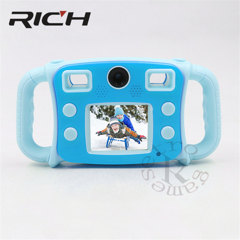 "RICH Mini ABS Children Kid Camera Digital Video Camcorder with 2.0"" LCD Screen Fine Gift for your Boy Girl with lithium batterry"