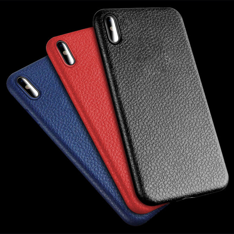 Ultra Thin Phone Cases For <font><b>iPhone</b></font> 6S <font><b>6</b></font> 7 8 Plus 10 X <font><b>Cover</b></font> <font><b>Leather</b></font> Skin Soft TPU Silicone Case For <font><b>iPhone</b></font> 5 5S SE 6S 7 8 Shell image