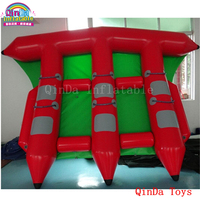 0.9mm PVC inflatable flyfish water boat, free air pump inflatable fly fish boat with factory price