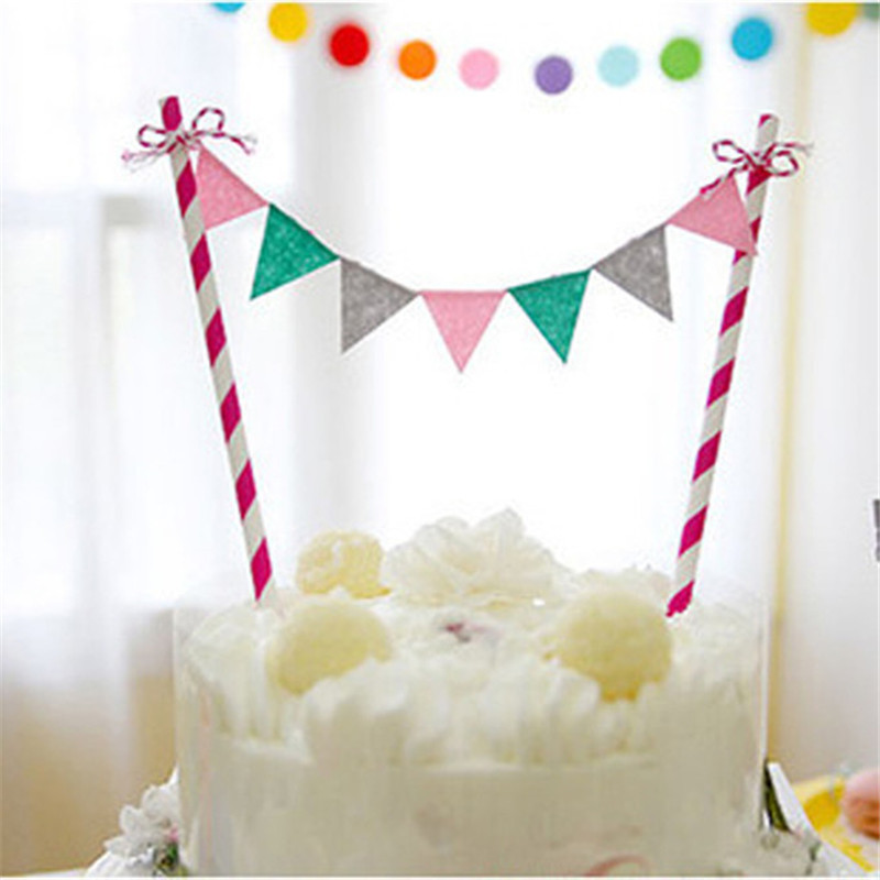 Rainbow Cake Bunting Banner Kit Topper Picks Birthday Flags Baby Shower  Home Hotel Cake Cupcake Party