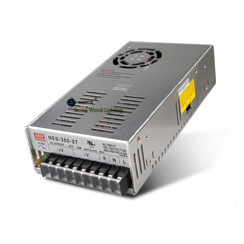 100-240Vac to 27VDC ,351W ,27V13A  UL Listed power supply ,Led light,led signboard driver ,NES-350-27 90w led driver dc40v 2 7a high power led driver for flood light street light ip65 constant current drive power supply