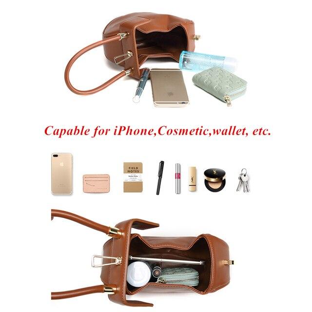 Burminsa Women Genuine Leather Hobos Bags Small Tote Bags Girls Elegant Handbags Designer Brand High Quality Ladies Evening Bags 4