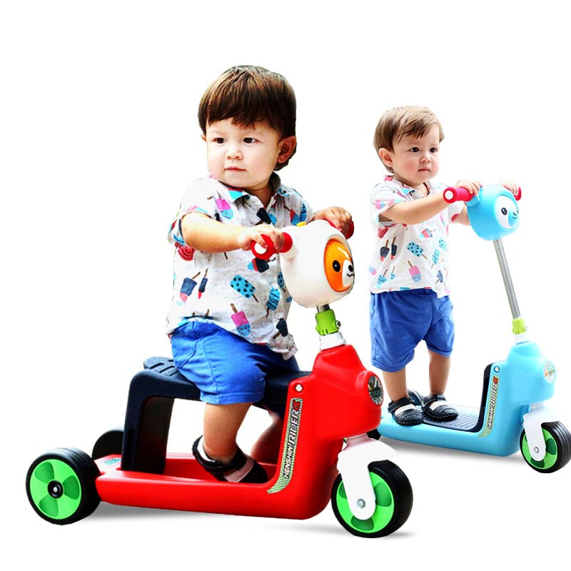 Infant Shining Children 3 Wheel Scooter scooter baby children's scooter for children 1-3 toy baby stroller infant shining swing car mute flash belting leather music environmental quality children s toy car