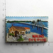 Швеция мальмо путешествия memorabilia магнитные наклейки стикеры на холодильник