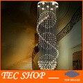 JH Projeto K9 Candelabro de Cristal Moderna Bola Grandes lustres de Cristal de Luz Em Espiral Lâmpada de Design para sala de estar grande iluminação da escada