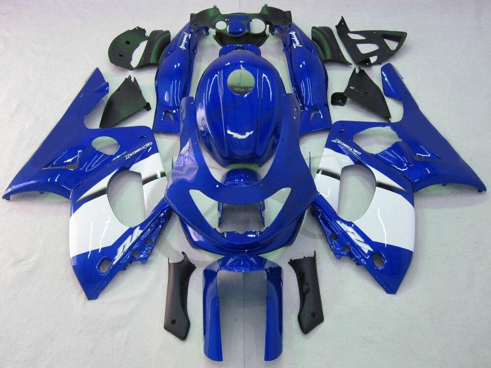 Ручной пластиковый белый синий обтекатель для Ямаха YZF 600 600р 97-07 02 03 04 05