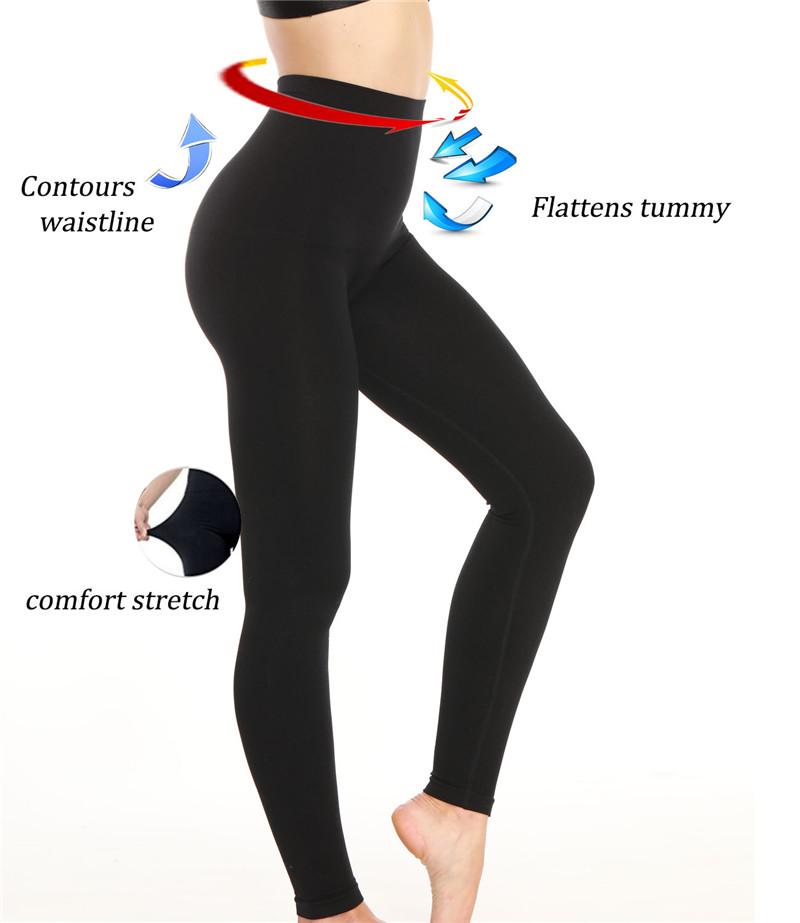 Womens Slim Tone High Waist Tummy Control Full Length Legging Body Shaper Girdle