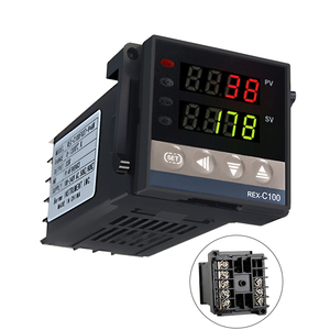 Image 2 - Neue Alarm REX C100 110V zu 240V 0 zu 1300 Grad Digital PID Temperatur Controller Kits mit K Typ sonde Sensor
