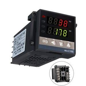 Image 2 - Nuovo Allarme REX C100 110V a 240V 0 a 1300 Gradi Digitale PID Regolatore di Temperatura Kit con il Tipo K sonda Sensore