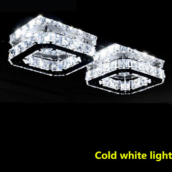Nowoczesny biały kryształowy żyrandol led lampy wysokiej dioda led dużej mocy żyrandol dzienny led żyrandol światło led połyskujące żyrandole tanie i dobre opinie ULMXI Klin Brak 90-260 v 120 v 110 v 220 v 110-240 v 230 v 130 v Szczotkowanej stali Montażu podtynkowego Żyrandole STAINLESS STEEL