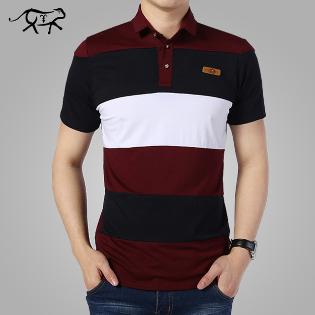 Striped Polo Shirt Fashion Men 2017 Summer Short Sleeve Classic Polo's Polos Hombre Men's Casual Brand POLO Plus size M-XXXXL