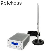 RETEKESS TR502 5W/15W PLL FM Transmitter Stereo FM Radio Broadcast Transmitter Station For Conference Teaching Outdoor Training