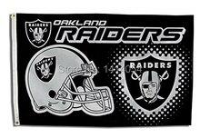 Oakland Raiders Helmet  logo Flag  150X90CM Banner 100D Polyester3x5 FT flag brass grommets 001, free shipping