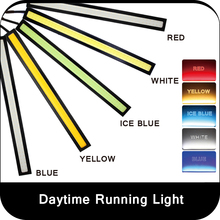 2 X Ultra bright 17cm COB LED Daytime Running light Waterproof Auto Car light Bar Strip Aluminum DRL Driving Fog lamp 5 color