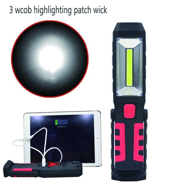 JA 6 Сияющий Горячий Продавать Быстрая Доставка Аккумуляторная Ручной LED Аккумуляторная Глинобитных Свет Фонарика Сочетании С Магнит Га